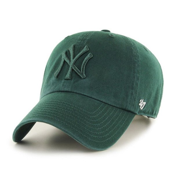 47 BRAND CAP MLB NEW YORK YANKEES CLEAN UP GREEN