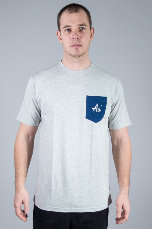 ALKOPOLIGAMIA T-SHIRT BASIC POCKET MELANGE