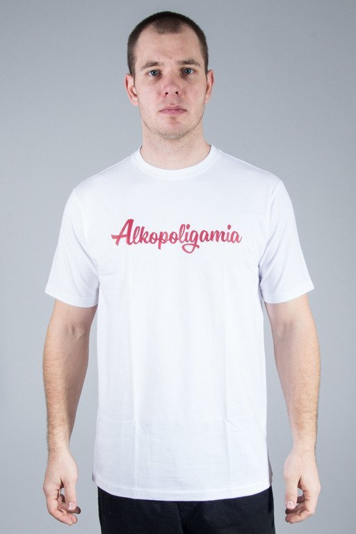 ALKOPOLIGAMIA T-SHIRT BASIC WHITE