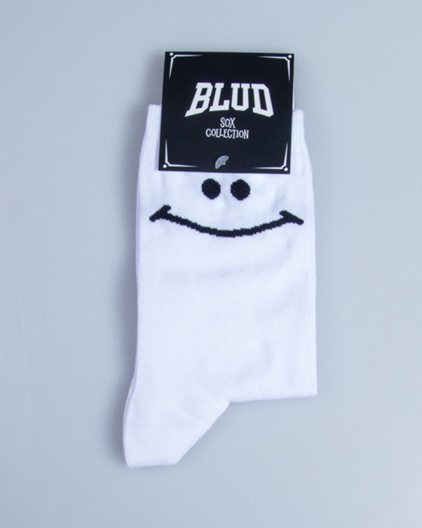 BLUD SOCKS QUARTER SMILE WHITE