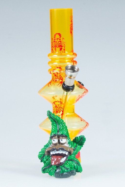 BONGO AKRYLOWE RASTA GANJA SCORPION TWICE YELLOW-RED