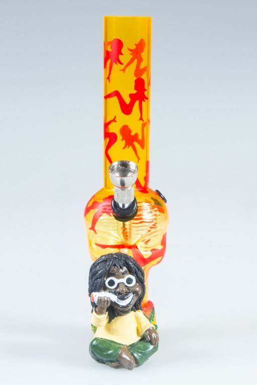 BONGO AKRYLOWE RASTA GLASS LADY CZACHA YELLOW-RED