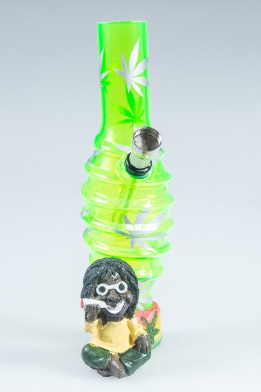BONGO AKRYLOWE RASTA GLASS MARIHUANA BANDS GREEN
