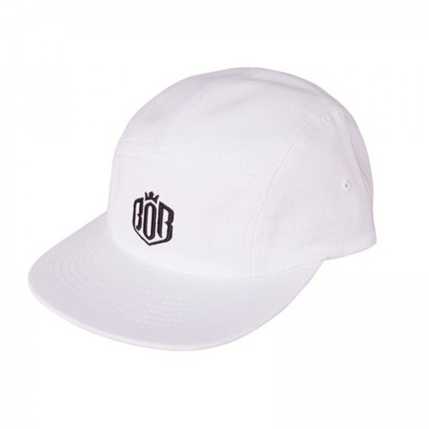 BOR CAP 5PANEL WHITE