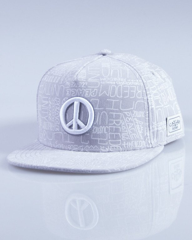 CAYLER & SONS CZAPKA SNAPBACK PEACE GREY