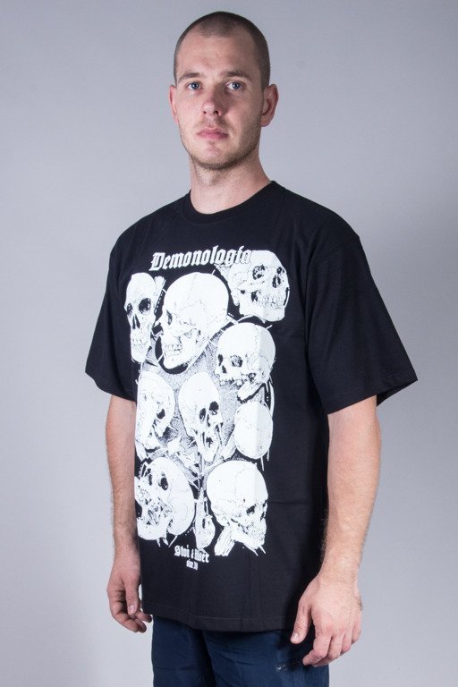 DEMONOLOGIA T-SHIRT SKULLS BLACK