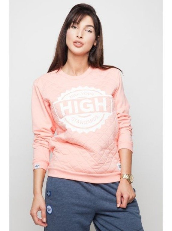 DIAMANTE CHICKS BLUZA HIGH STANDARDS SALMON