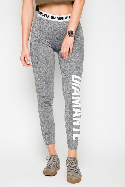 DIAMANTE CHICKS LEGGINSY CLASSIC DIAMANTE LIGHT GREY