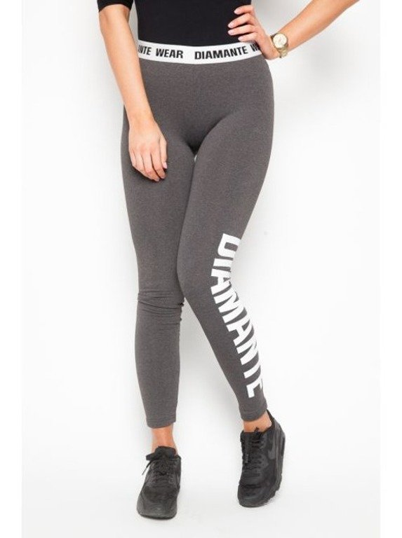 DIAMANTE CHICKS LEGGINSY CLASSIC GREY