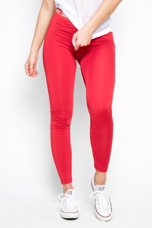 DIAMANTE CHICKS LEGGINSY CLASSIC RED