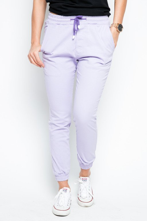 DIAMANTE CHICKS PANTS CHINO JOGGER CLASSIC VIOLET