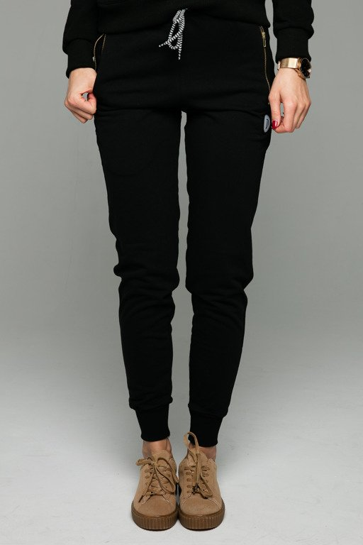 DIAMANTE CHICKS SWEATPANTS BASIC BLACK