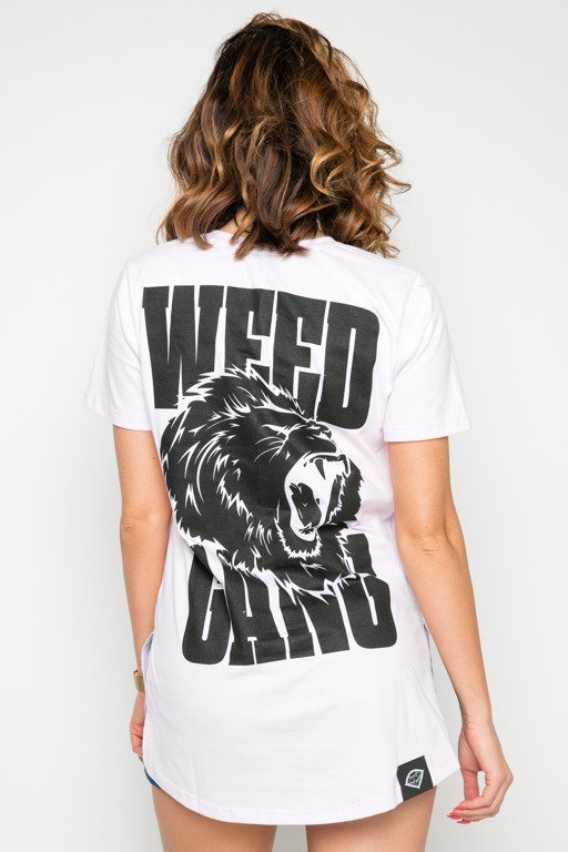 DIAMANTE CHICKS T-SHIRT WEED GANG PINK