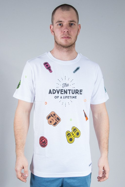DIAMANTE WEAR KOSZULKA ADVENTURE WHITE