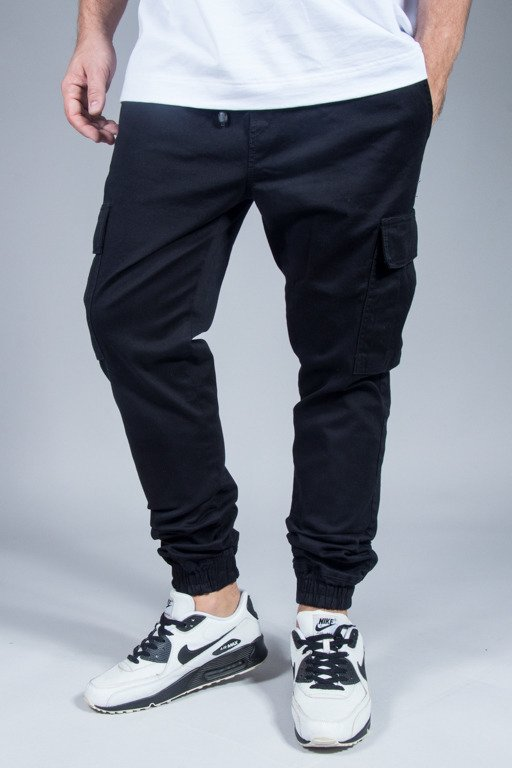 DIAMANTE WEAR PANTS CHINO JOOGER CARGO BLACK