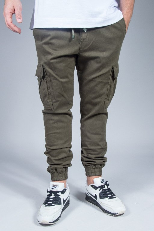 DIAMANTE WEAR PANTS CHINO JOOGER CARGO OLIVE