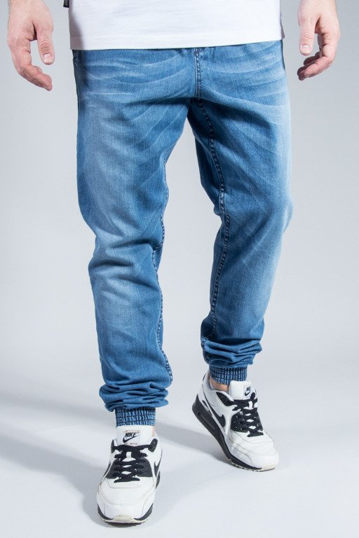 DIAMANTE WEAR PANTS JEANS JOGGER LIGHT WYCIERANE
