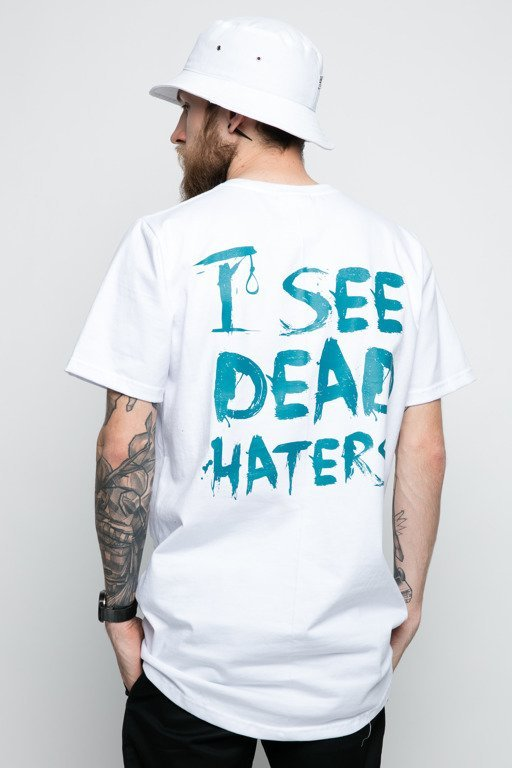 DIAMANTE WEAR T-SHIRT I SEE DEAD HATERS WHITE