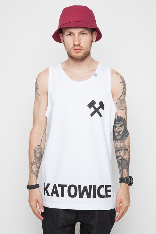 DIAMANTE WEAR TANK TOP KATOWICA WHITE