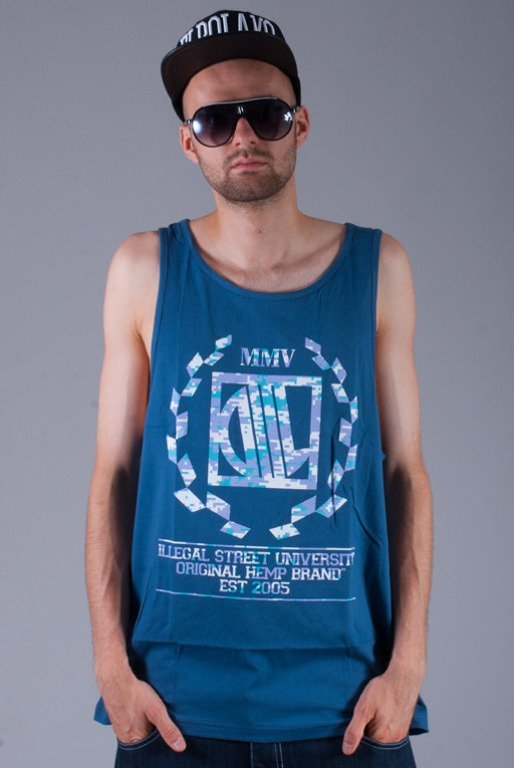 DIIL KOSZULKA TOP TANK HARVARD PIXEL NAVY BLUE