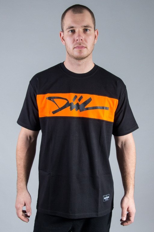 DIIL T-SHIRT CUT BLACK-ORANGE