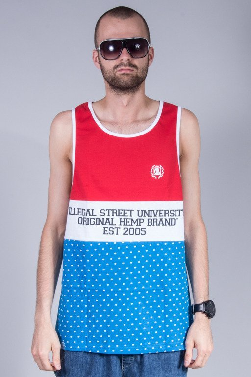 DIIL TANK TOP OHB COLOR RED-BLUE