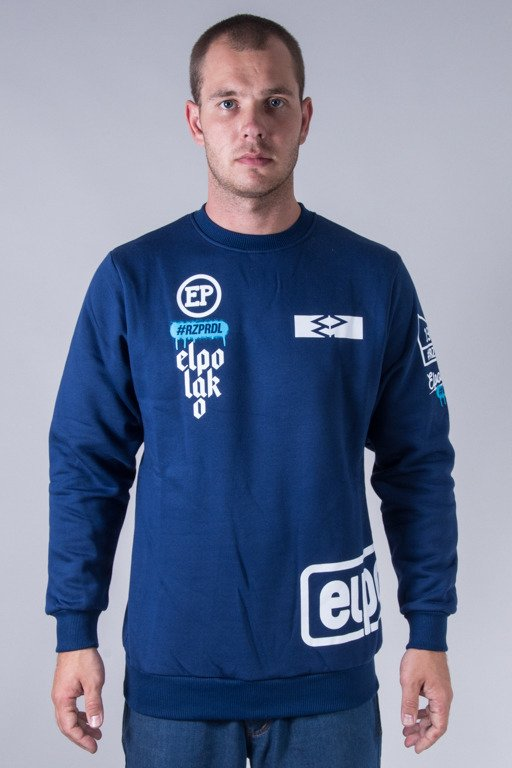 EL POALKO CREWNECK BELOW NAVY