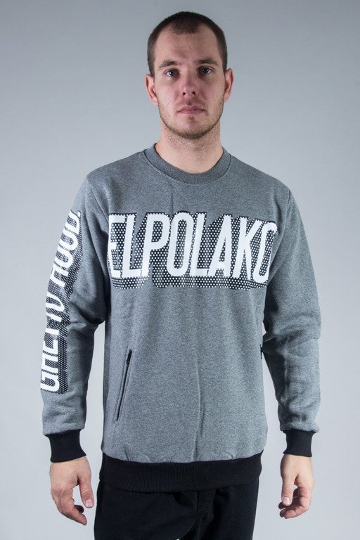 EL POLAKO BLUZA BEZ KAPTURA GHETTO HOOD GREY