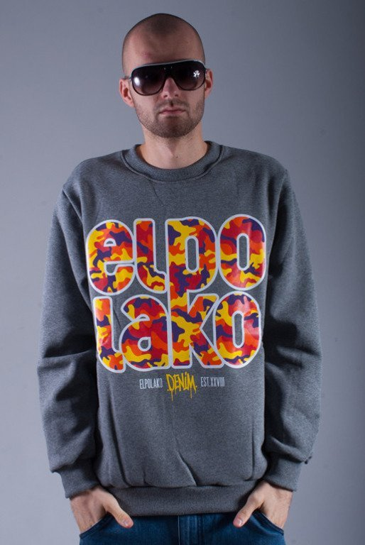 EL POLAKO BLUZA BEZ KAPTURA LTD MORO GREY