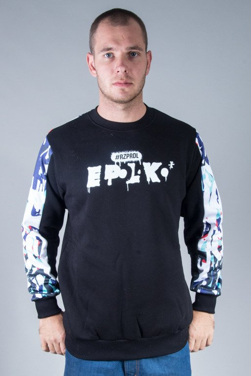 EL POLAKO CREWNECK GRAFFITI BLACK