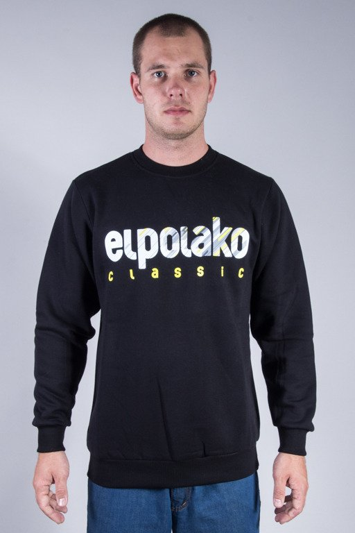 EL POLAKO CREWNECK SHADOW CLASSIC BLACK
