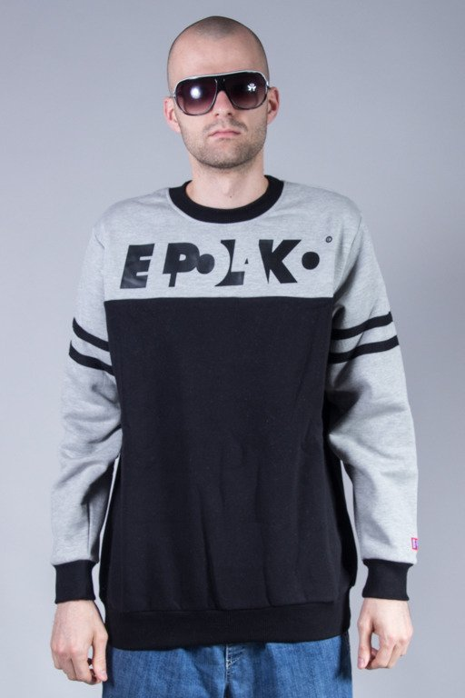 EL POLAKO CREWNECK STRIPES MELANGE-BLACK