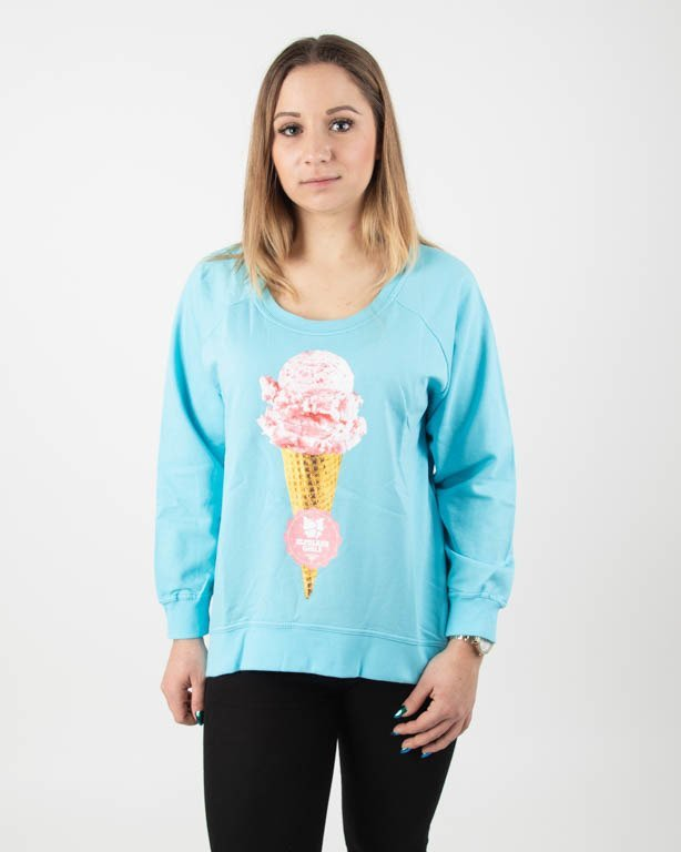 EL POLAKO GIRLS BLUZA BEZ KAPTURA LODZIK BLUE