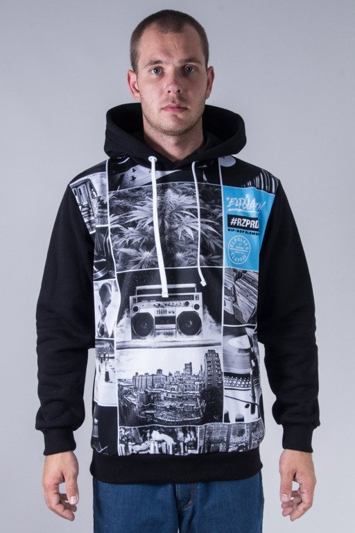 EL POLAKO HOODIE HIP HOP ELEMENTS BLACK