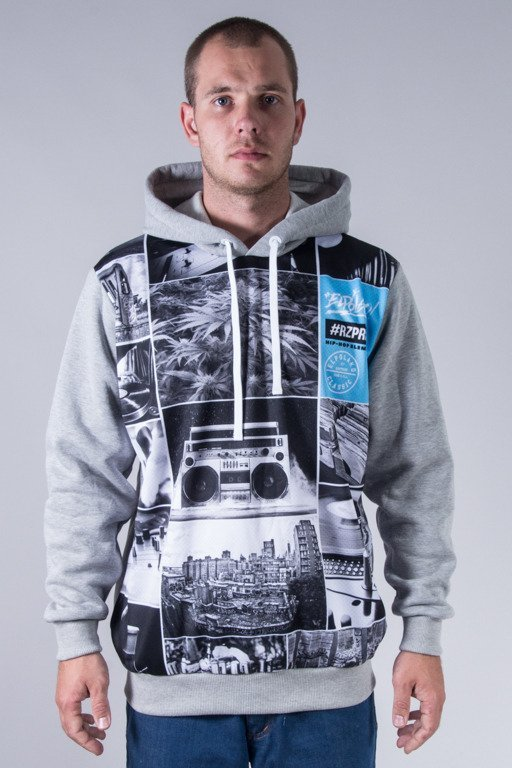 EL POLAKO HOODIE HIP HOP ELEMENTS MELANGE