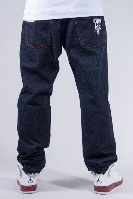 EL POLAKO JEANS SLIM FLAG DARK