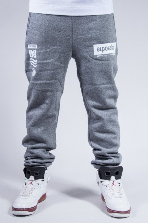 EL POLAKO SWEATPANTS CLASSIC 08 GREY