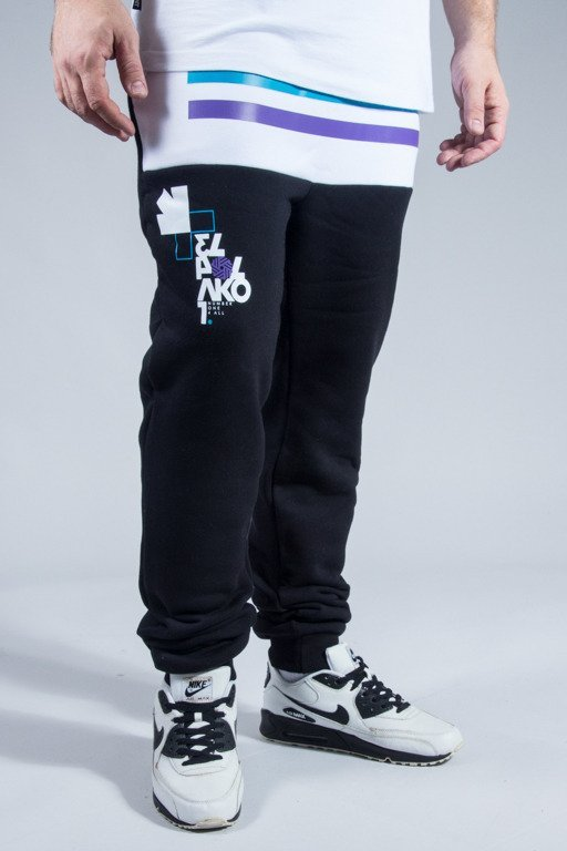EL POLAKO SWEATPANTS NUMBER BLACK