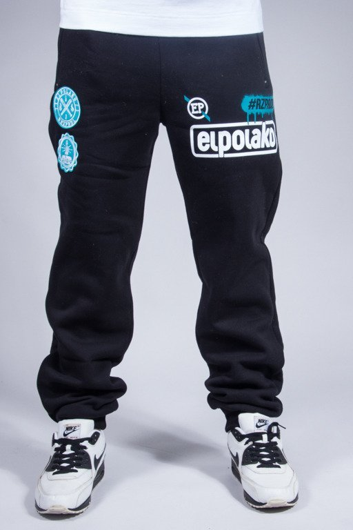 EL POLAKO SWEATPANTS REGULAR RZPRDL BLACK