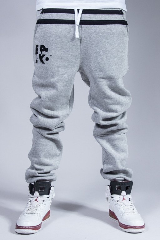EL POLAKO SWEATPANTS STRIPES GREY