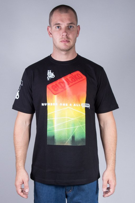 EL POLAKO T-SHIRT COLORFULL BLACK