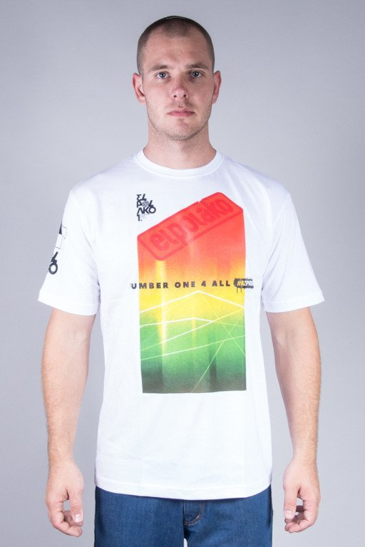 EL POLAKO T-SHIRT COLORFULL WHITE