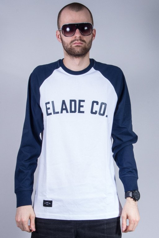 ELADE LONGSLEEVE COLLAGE WHITE-NAVY