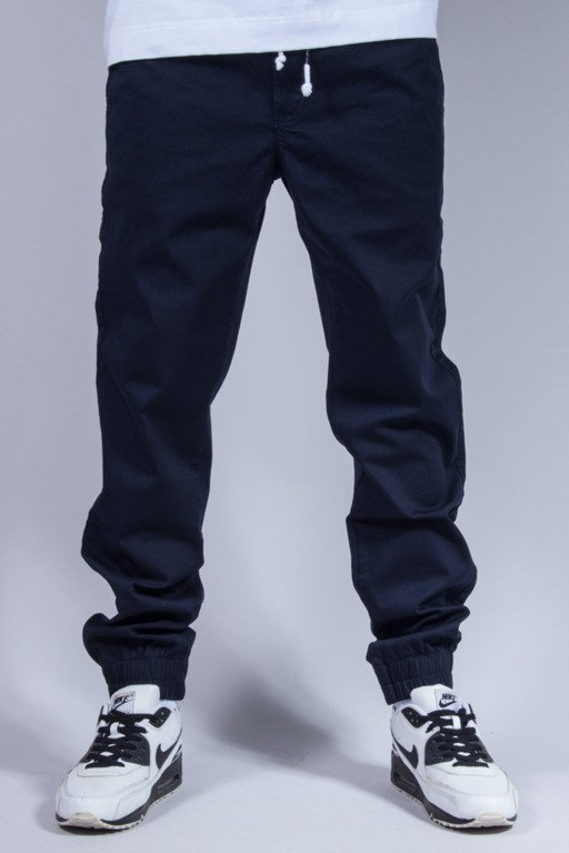 ELADE SPODNIE CHINO JOGGER NEW NAVY