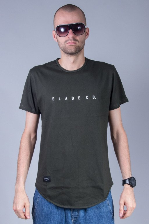 ELADE T-SHIRT MINIMAL SCALLOP OLIVE