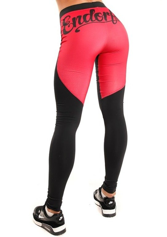 ENDORFINA LEGGINSY FANCY BLACK-RED