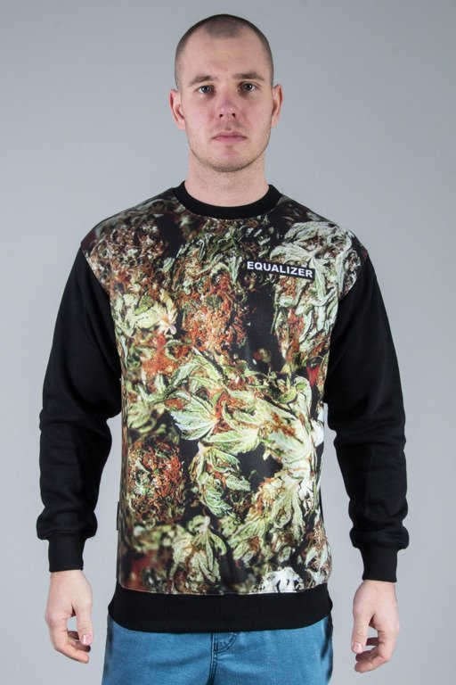 EQUALIZER CREWNECK FULL GANJA BLACK