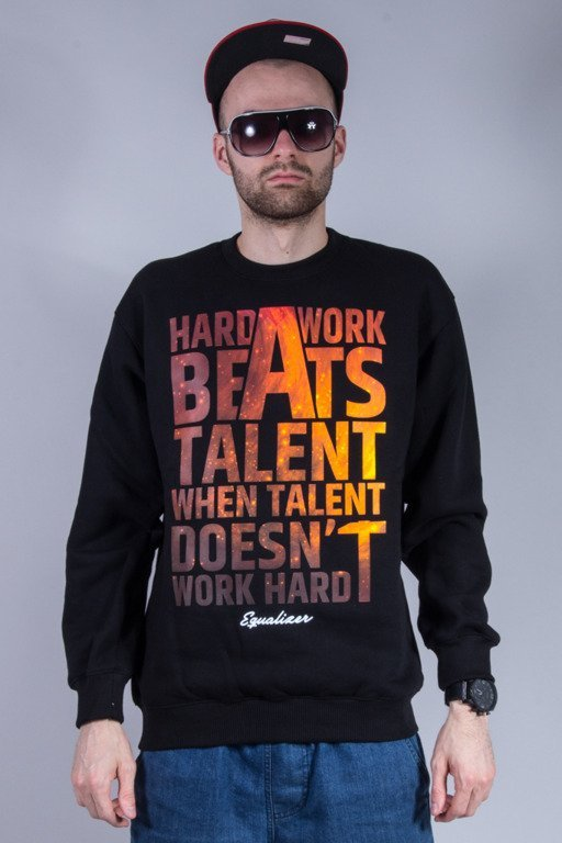 EQUALIZER CREWNECK HARD WORK BLACK
