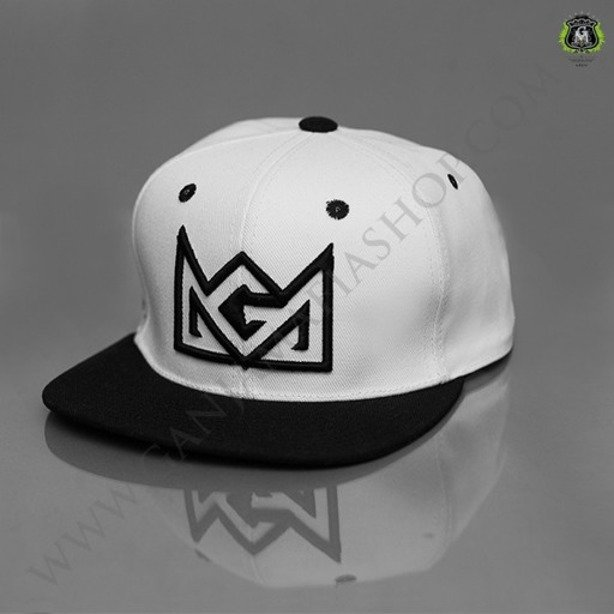 GANJA MAFIA SNAPBACK CROWN WHITE
