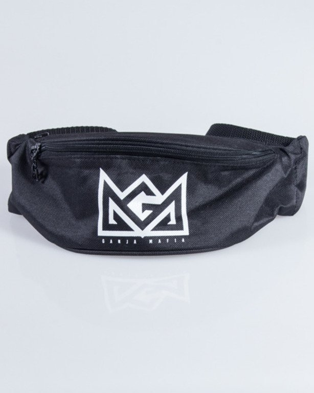 GANJA MAFIA STREETBAG CROWN BLACK-WHITE
